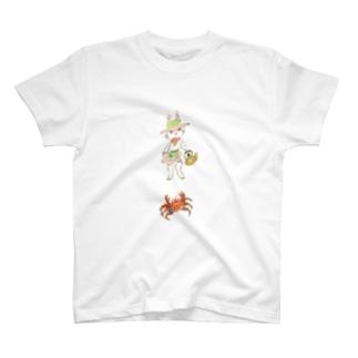 うさぎのマミィと毛蟹 Tシャツ