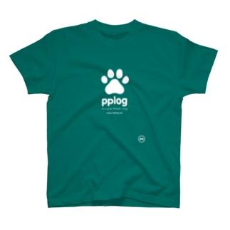 pplog(白抜き) T-shirts