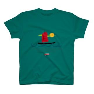 琉球伝統帆掛鱶舟帆漕馬鹿 T-shirts