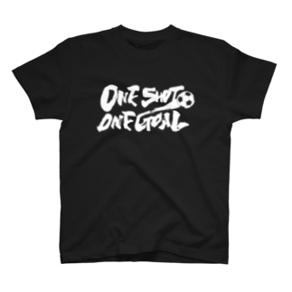 burnworks designのOne Shot One Goal(濃色用)Tシャツ