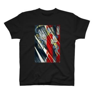 月岡芳年 羅城門渡辺綱鬼腕斬之図 茨木童子【浮世絵・妖怪】 T-shirts