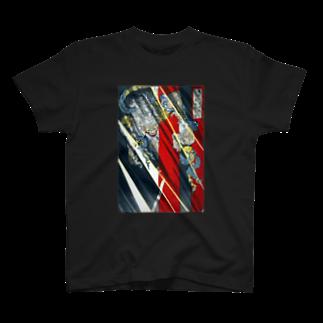 和もの雑貨 玉兎の月岡芳年 羅城門渡辺綱鬼腕斬之図 茨木童子【浮世絵・妖怪】 T-shirts