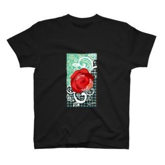 rose green shirt T-shirts