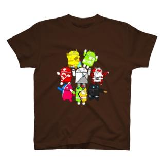 ドロイド君ズ(透過) T-shirts