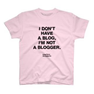 TATEYAMAのI'm not Blogger T-shirts