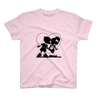 おおかみうさぎのloveit T-shirts