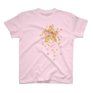 STAR drop Tシャツ(ライトピンク) T-shirts