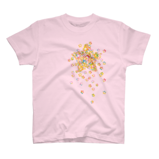 Simple Morning DiaryのSTAR drop Tシャツ(ライトピンク) T-shirts