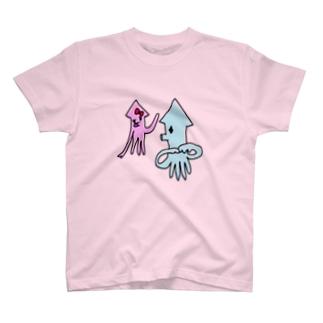 いか(まちあわせ) T-shirts