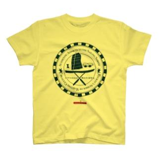 琉球伝統帆掛鱶舟帆漕馬鹿:紋章1 T-shirts