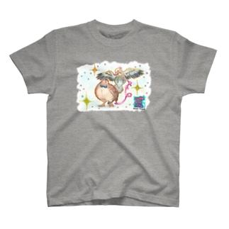 インコとうずらの「きらきら」 T-Shirt