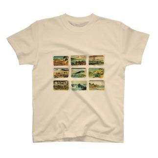 北斎-3 Tシャツ