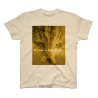 すけぇちよ(すけにゃんぼう)の猫みたいな自由を T-shirts