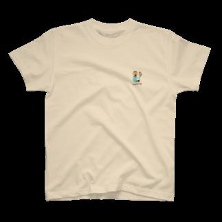 絵と物語のお店『 and trois 』のコーヒーおじさん T-shirts