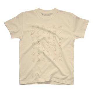 *うさぎだらけ* T-shirts