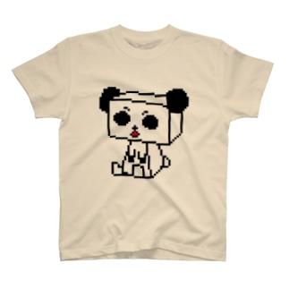 パンダ川(箱ドット) T-shirts