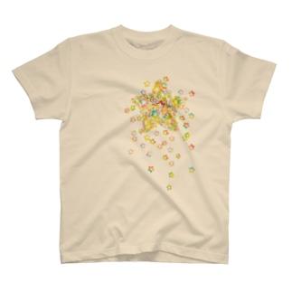 STAR drop Tシャツ(ナチュラル) T-shirts