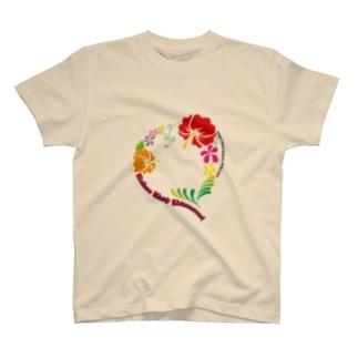 【カフーショップ】トロピカルheart T-shirts