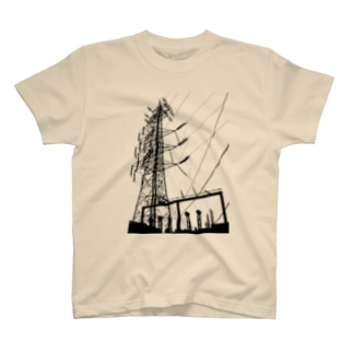[鉄塔] 千南線特5号 @久地変電所 T-shirts