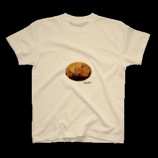 Taku SHIRAIの丸型Glorious Castle T-shirts