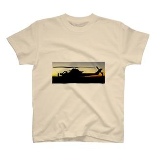 COBRA HELICOPTER AT SUNRISE T-shirts