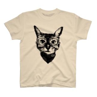 Nobigao ゴーグルキャット T-shirts