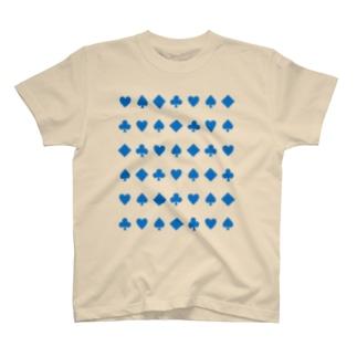 トランプ ダイヤ・ハート・クローバー・スペード T-shirts