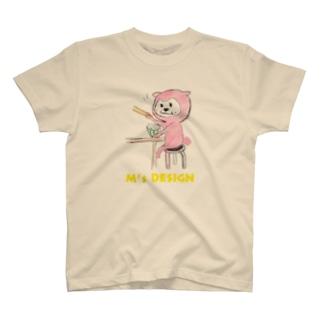 エイピーのランチタイム(白) T-shirts