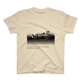 Tシャツ Love 砂文字 T-shirts