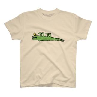 Cɐkeccooのらくがきシリーズ『じたばたワニさん』 T-shirts