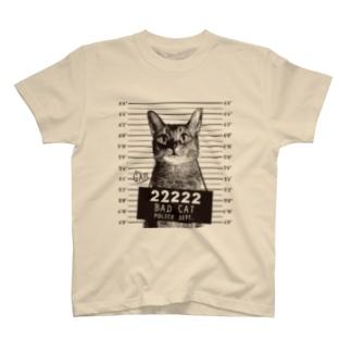 Nobigao 猫マグショット T-shirts