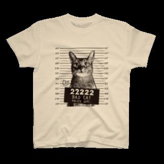 NobigaoのNobigao 猫マグショット T-shirts