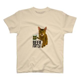 Nobigao ビール猫 T-shirts