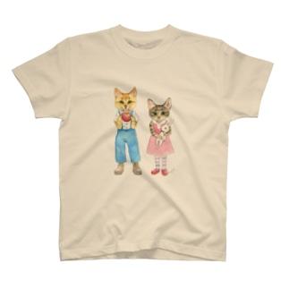 おちびとチャトニャン(水彩) T-shirts