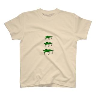 わに3連 T-shirts