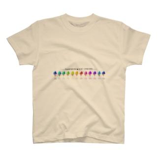 レインボーアイスクリーム T-shirts