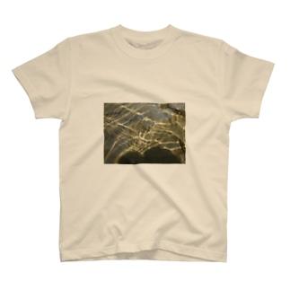 川底に光る砂金 T-shirts