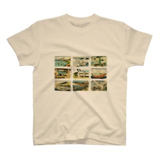 北斎-2 Tシャツ