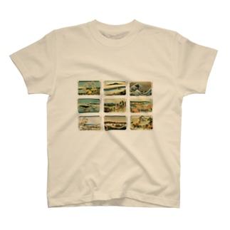 北斎-5 Tシャツ