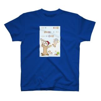 ラッコ+画伯 T-shirts