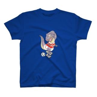 サッカー好きのTレックス T-shirts