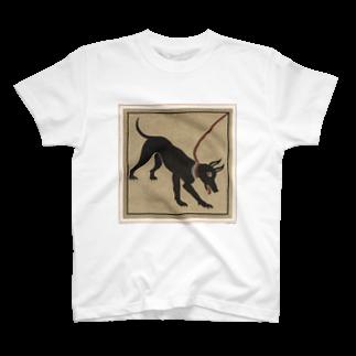 J. Jeffery Print Galleryのポンペイの番犬Tシャツ