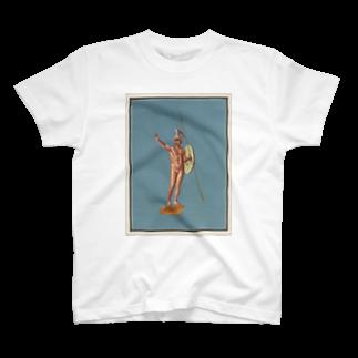 ポンペイ遺跡 裸の戦士 Tシャツ