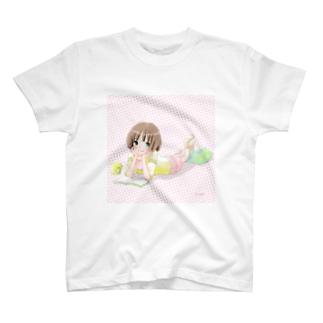 春の読書タイム Tシャツ