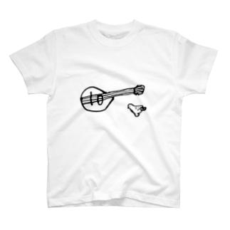 マンドリンと鳥 Tシャツ