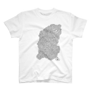 Tシャツ - 迷路 - 迷路の手書きイラストをモチーフ