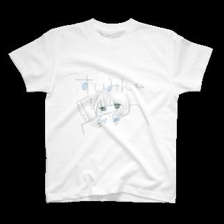 momomilkの水色のすいみんTシャツ