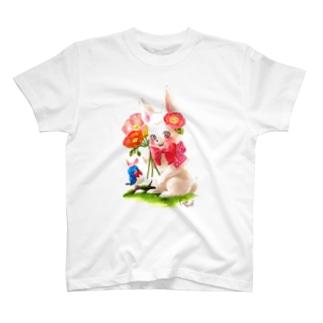 ロザビーちゃんとルリビーくん T-shirts