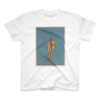 ポンペイ遺跡 裸の戦士 T-shirts