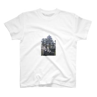 島原城と桜 T-shirts